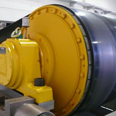 bulkgoederen-trommelmotor